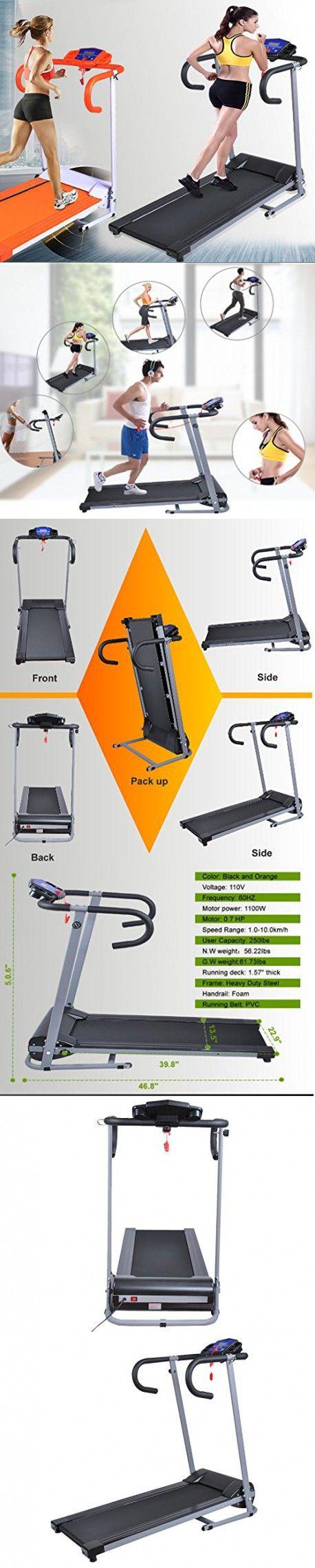 Gracelove 500W/1100W Folding Electric Treadmill Portable Motorized Running Machine Black (1000W Black(Folding))