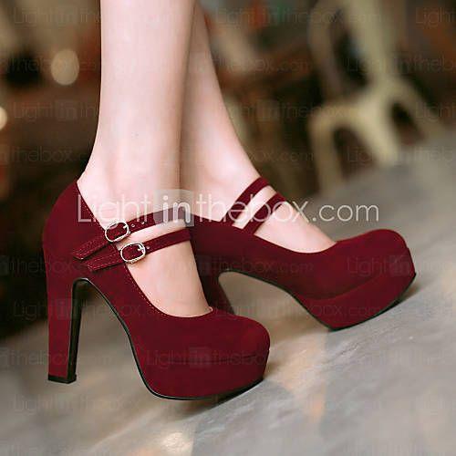 Women's Shoes Heel Heels / Platform Heels Office & Career / Dress / Casual Black / Blue / Red / Beige 4796338 2016 – $48.89