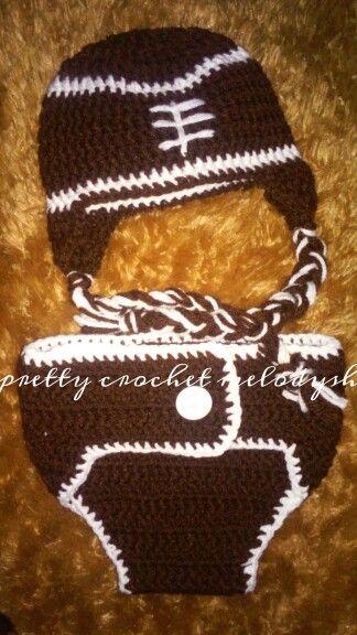 American football baby crochet