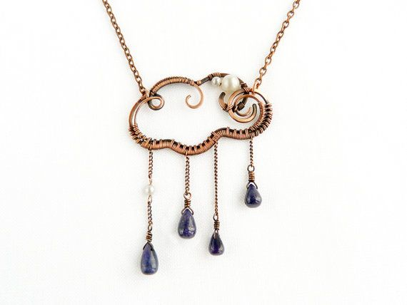The most elegant rain cloud. #etsyjewelry