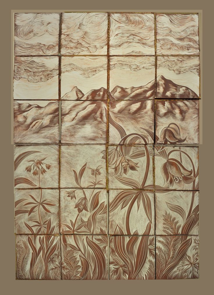 1000 images about ceramic art tile murals for an alaskan for Clay tile mural