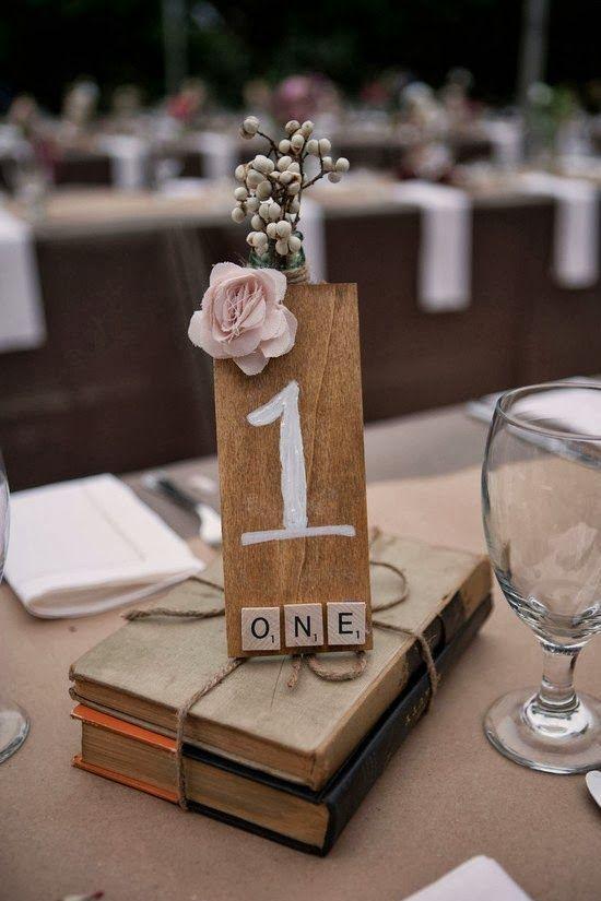 Originales ideas para numerar las mesas de una fiesta o for Mesas de boda originales