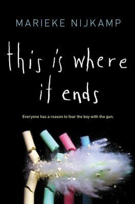 """This is where it ends"", by Marieke Nijkamp - Minutes after the principal of Opportunity High School in Alabama finishes her speech welcoming the student body to a new semester, they discover that the auditorium doors will not open and someone starts shooting as four teens, each with a personal reason to fear the shooter, tell the tale from separate perspectives."