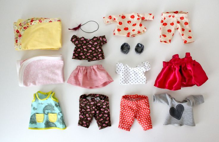 Adorable sewn wardrobe for a stuffed animal // MADE