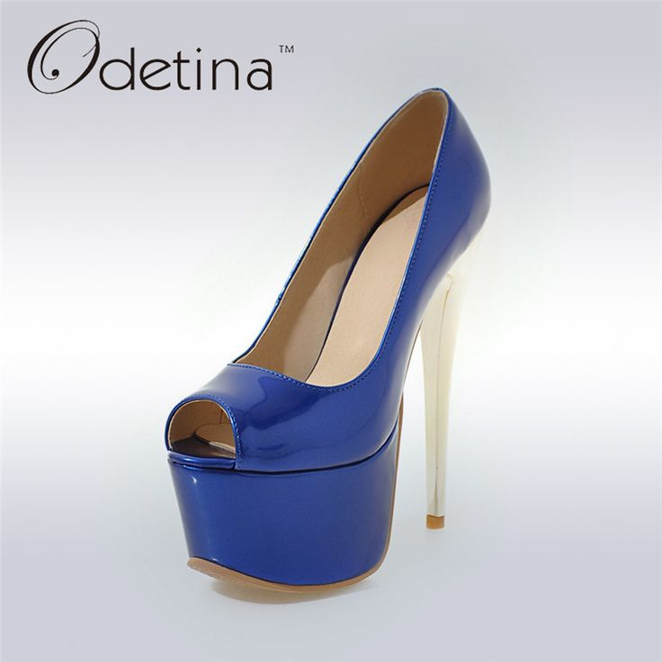 Lack Stiletto Heel Peep Toe Shoes
