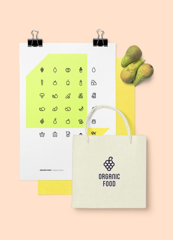 Organic Food – Free Icon Set on Behance