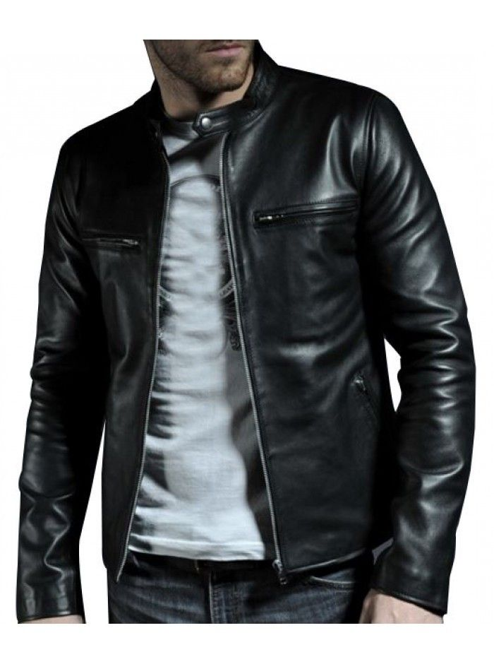 Mens fashion Black leather jacket, Men real leather jackets, Mens leather jacket - Outerwear