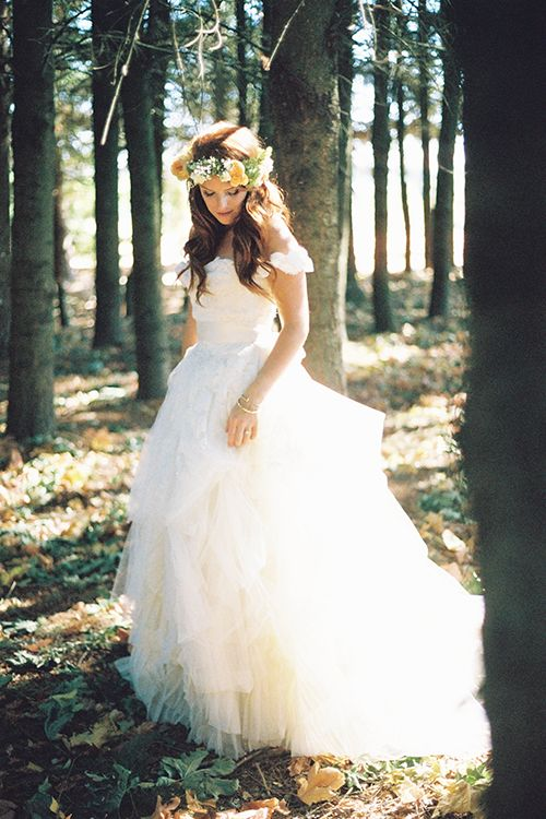 A handmade #weddingdress that created using a #vintage gown | @iamchristianne | Brides.com