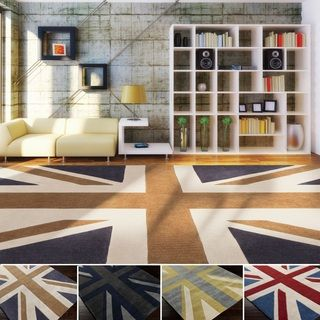 Shop for Hand-tufted Union Jack Novelty Contemporary Area Rug (3'6 x 5'6). Get…
