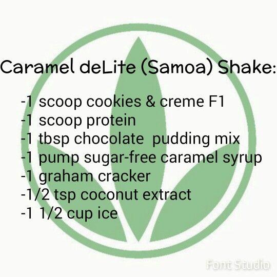 Girl Scout's Caramel deLite (Samoa) Herbalife shake