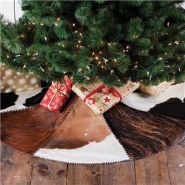True Western Cowhide Tree Skirt