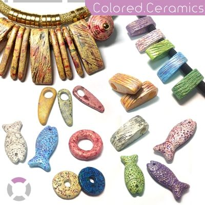Discover our new colored ceramics and create unique handmade jewellery. Find all the shapes and colors @ www.nikolisgroup.com