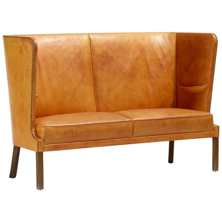 Settee by Frits Henningsen | From a unique collection of antique and modern settees at https://www.1stdibs.com/furniture/seating/settees/