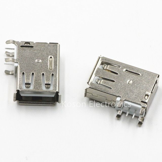 10pcs Usb Type A Female Pcb Mount Socket Connector High Quality Vertical Usb A Female Socket Jack Connector 90 Degree Review Usb Type A Usb Sockets