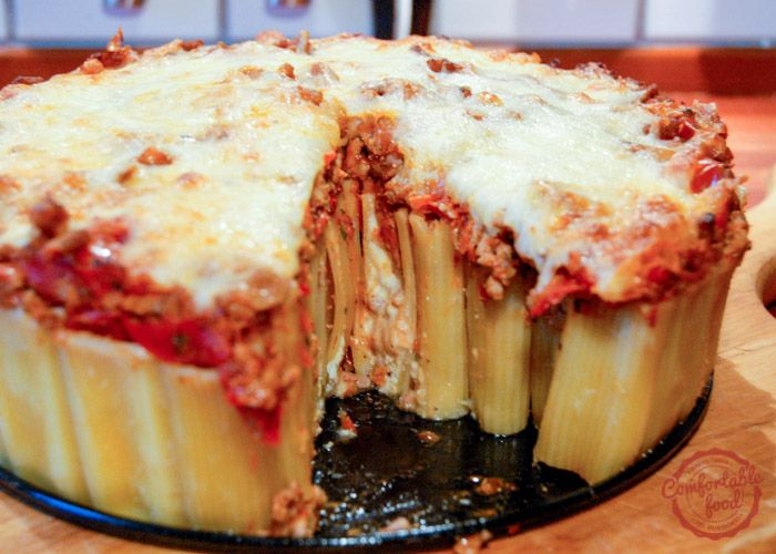 comfortable food - cheese stuffed rigatoni pasta bake