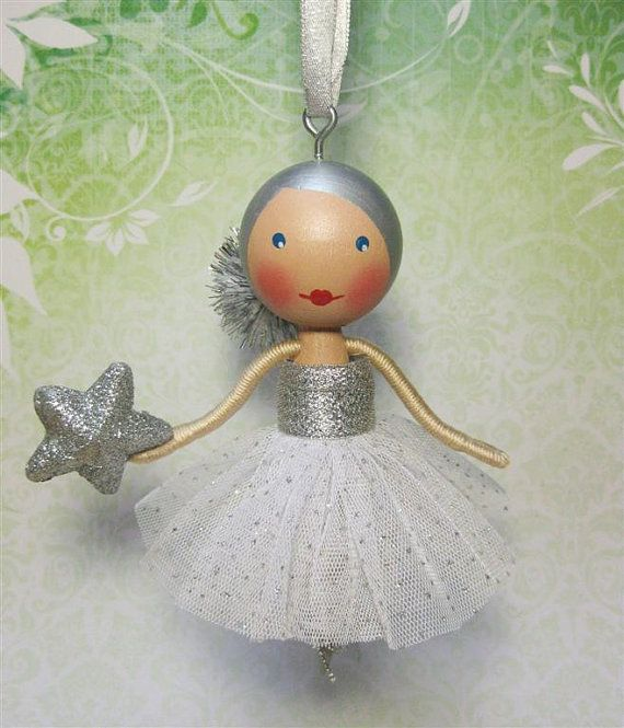 sparkle clothespin doll i want to make these for my white crystal christmas tree. i should tree this...