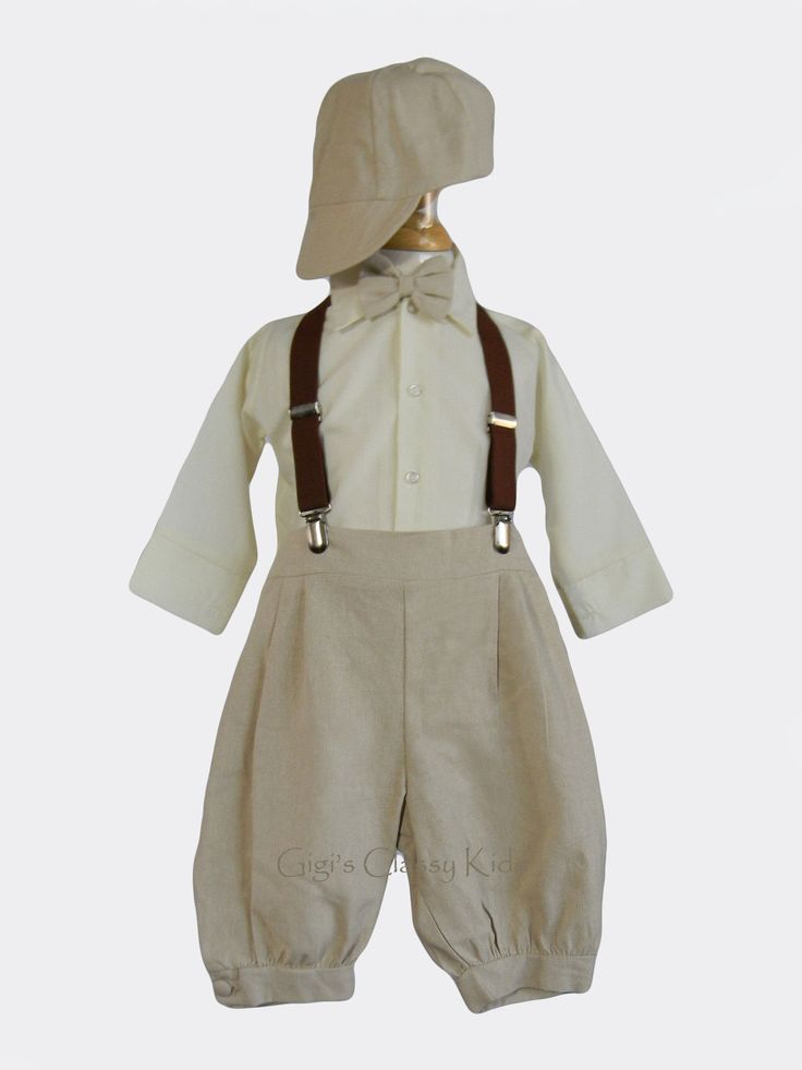 New Toddler Boys Khaki Knicker Vintage Suit Outfit Easter Wedding Christmas | eBay