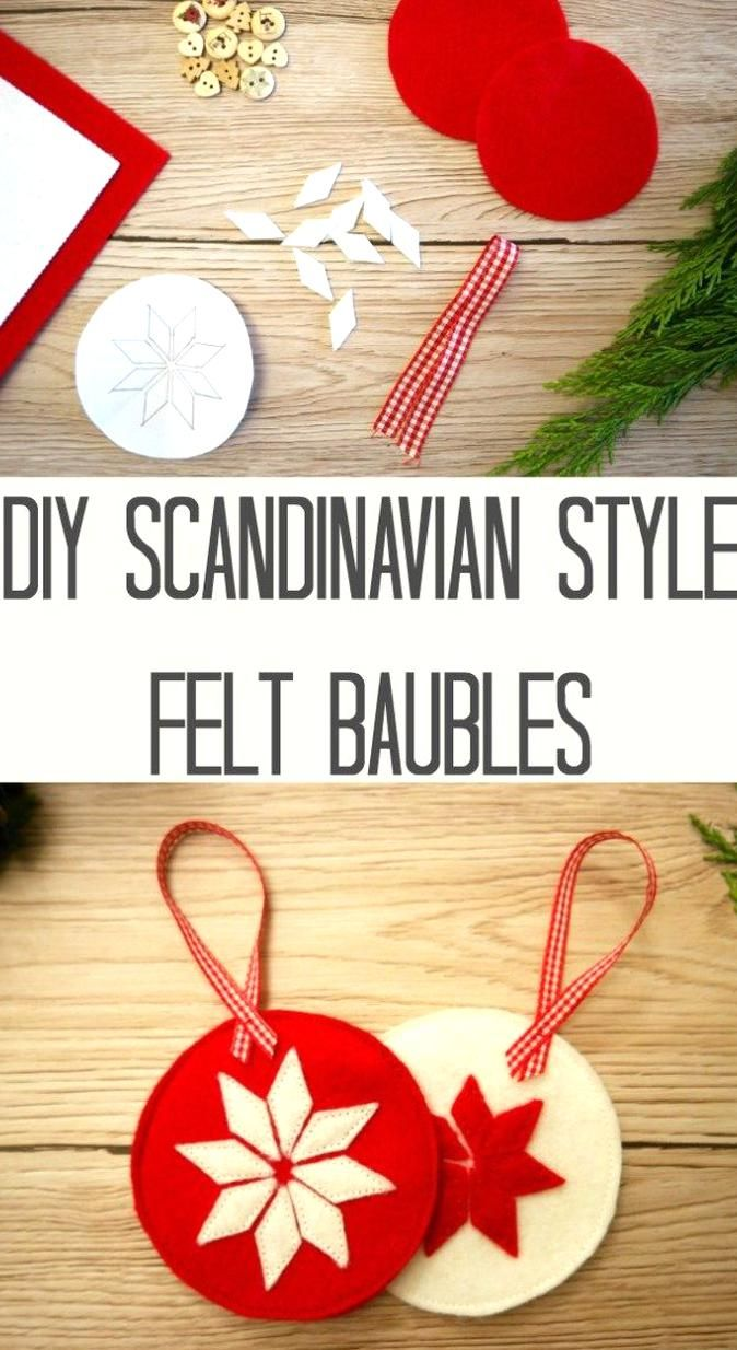 Diy Scandinavian Style Christmas Decorations In 2020 Felt Christmas Decorations Scandinavian Christmas Diy Scandinavian Christmas Decorations
