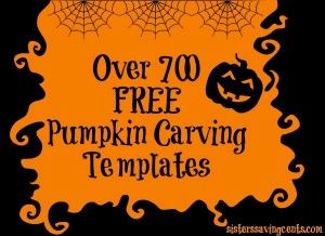 Over 700 FREE pumpkin stencils, including Disney, Nick Jr, Angry Birds, Hello Kitty, Military,and many more! - Sisters Saving Cents