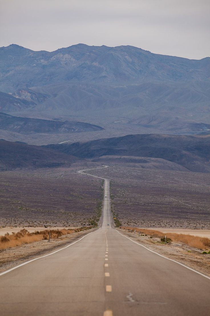The foreboding road into Death Valley National Park. Click to see more amazing sights there!