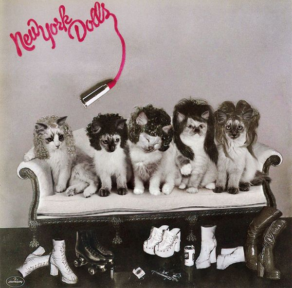 Mew York Dolls: New York Dolls album cover with cats