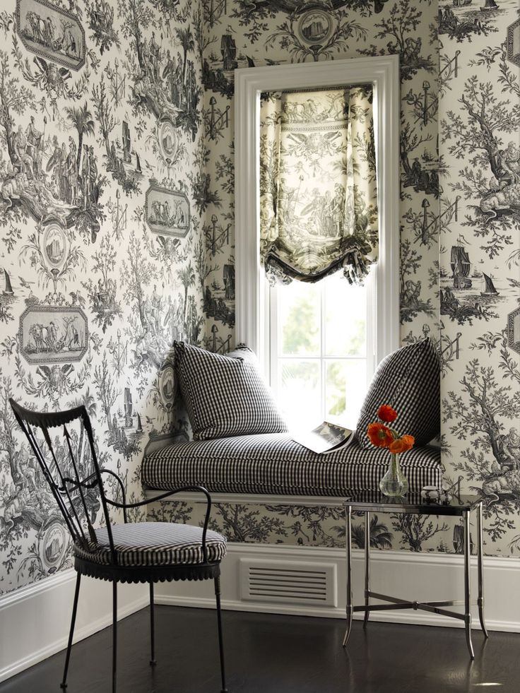 Loving The Wallpaper In This Living Room Sitting Area Images By Mendelson Group
