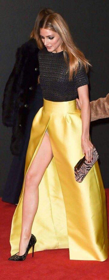 Falda muy larga para una ocasión formal