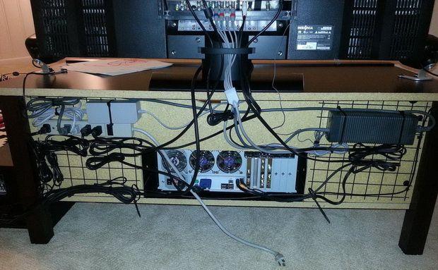 entertainment center tv cable management ideas products. Black Bedroom Furniture Sets. Home Design Ideas