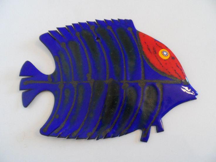 Laurana Rame D'Arte Enameled Copper Fish by Bastanelli (23cm long). by WoodstockStudio on Etsy