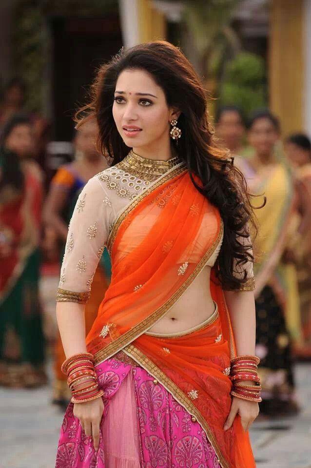 Tamannah bhatia in designer half saree