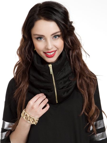 Gold Zipper Snood