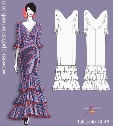 I think I'm going to make this for my next costume. Vestido de flamenca de lunares