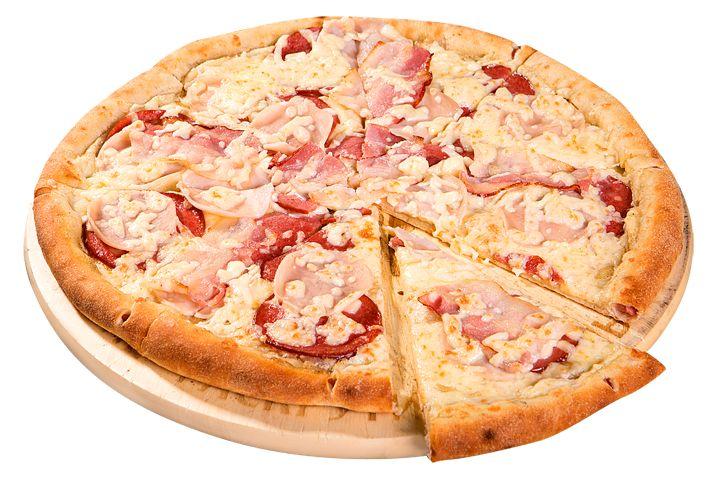 Пицца Сицилия с бортиком из сосисок 30см за 390р. - доставка пиццы в…