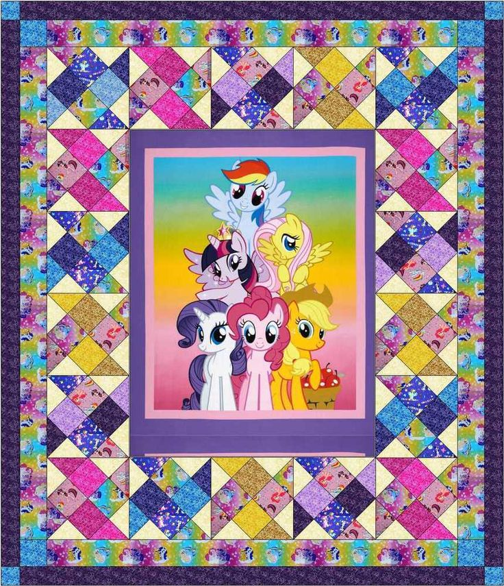 Easy Quilt Kit/My Little Pony Quilt Kit/Precut Fabric Ready To Sew/Twin/NEW ITEM