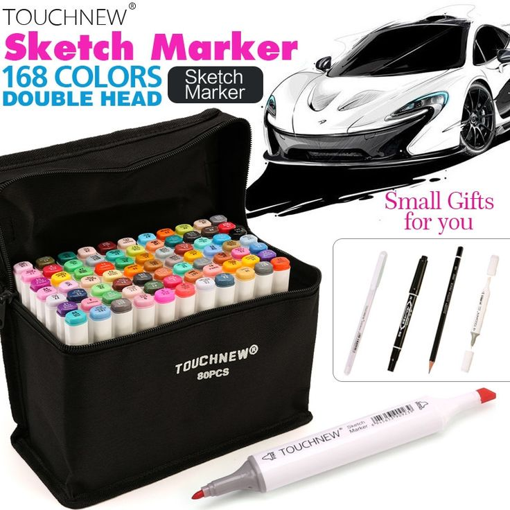 18.60$  Buy here - http://ali8st.shopchina.info/1/go.php?t=32813576621 - TOUCHNEW 30/40/60/80 Colors Artist Dual Head Sketch Copic Markers Set for Manga Marker School Drawing Marker Pen Design Supplies  #aliexpresschina