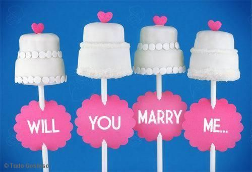 Will You Marry Me Cake Pops
