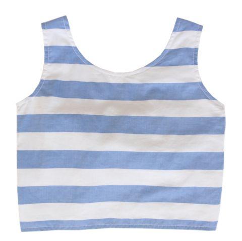 Minouche_Maya top - blue and white - The Child Hood