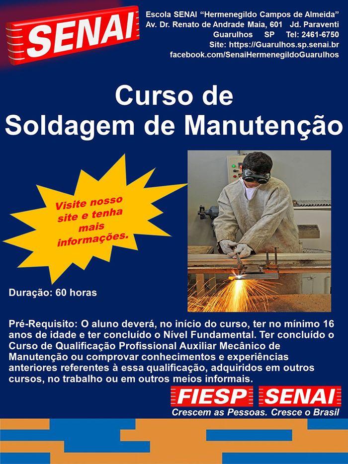 CURSO DE SOLDAGEM DE MANUTENÇÃO