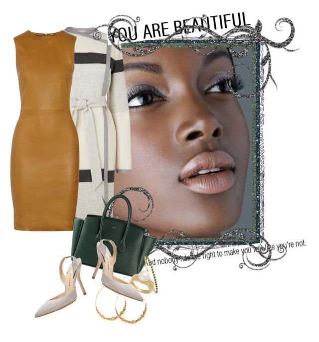 """You Are Beautiful"" by belinda-1 ❤ liked on Polyvore featuring Anastasia Beverly Hills, L.K.Bennett, The Row, H&M, Bally, Paul Andrew and Armenta"
