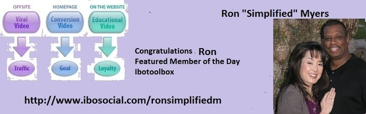 """Congratulations to Ron """"Simplified"""" Myers  http://www.ibosocial.com/ronsimplifiedmyers"""