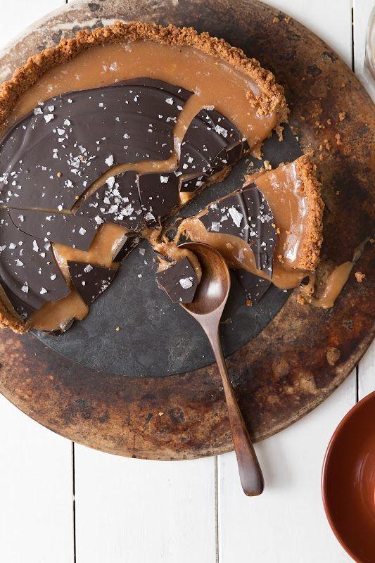 salted chocOlate caramel tart