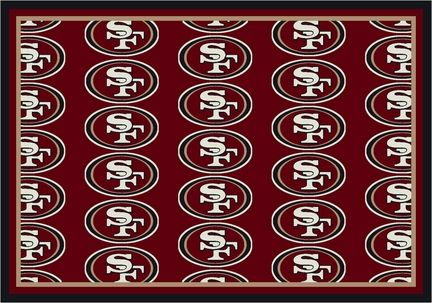 San Francisco 49ers 7' 8 x 10' 9 Team Repeat Area Rug (Red): Get in the Game with this NFL San Francisco… #Sport #Football #Rugby #IceHockey