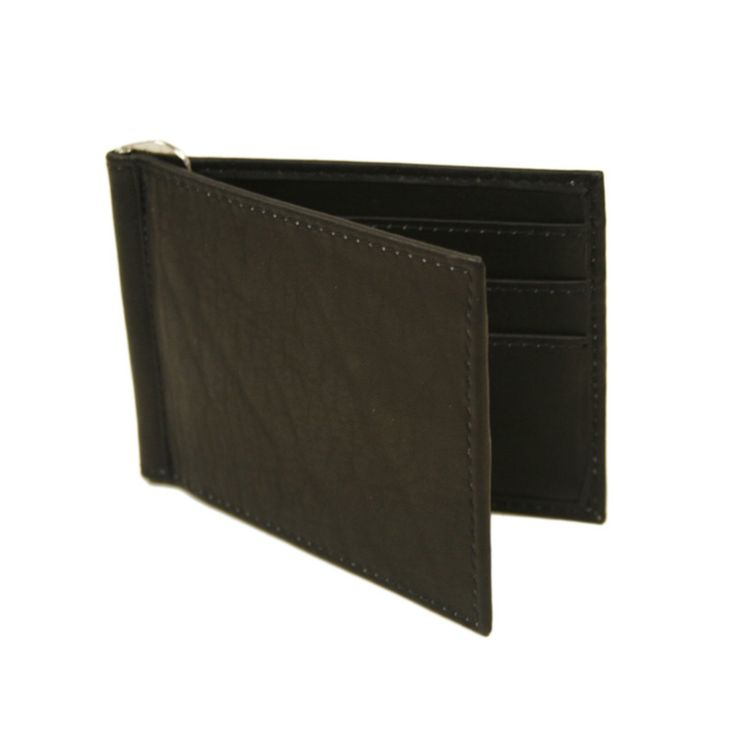 Piel Leather Bi-Fold Money Clip Wallet - Chocolate - 2858-CHC