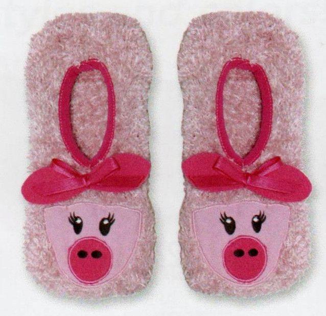 K-Bell Novelty slippers-pink Pig KNuPFG