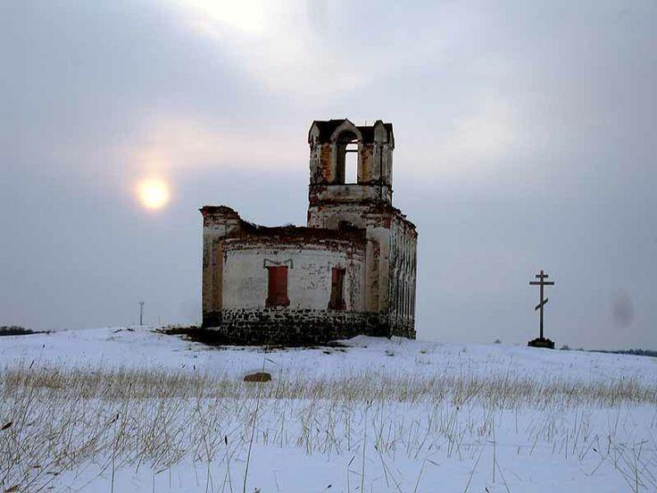Abandoned church in Karelia, Russia