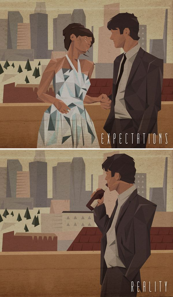 """Expectations vs Reality - """"(500) Days of Summer"""" SOAP BOX: when we place too many expectation on a relationship, we place someone in a box. People don't like to be in a box, and soon, you'll find that you won't even have them around to put those expectations on them. Looking outside yourself might actually be the key."""