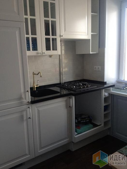 Маленькая кухня фото, расположение кухонной плиты и мойки, планировка кухонного гарнитура