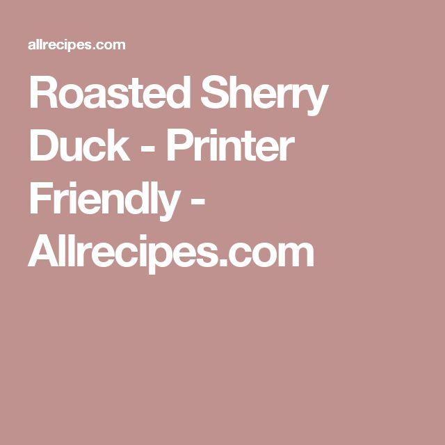 Roasted Sherry Duck - Printer Friendly - Allrecipes.com