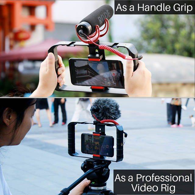 Tienda Online Ulanzi U Rig Pro Smartphone Video Rig W 3 Soportes De Zapatos Filmación Caso De Mano Smartphone Accessories Smartphone Rig Smartphone Filmmaking