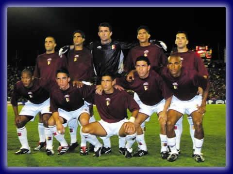 La seleccion de futbol de Venezuela conocida como la vinotinto.